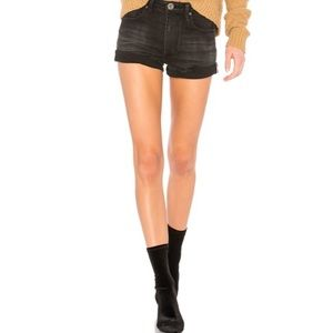 NWT One Teaspoon Harlets High Waist Short in Black